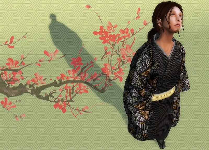 HILU-KIMONO+HAORI/denim black