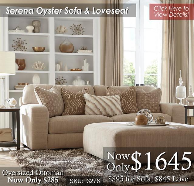 Serena Oyster Sofa & Loveseat