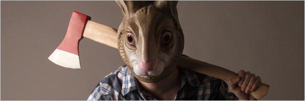 кролик с топором