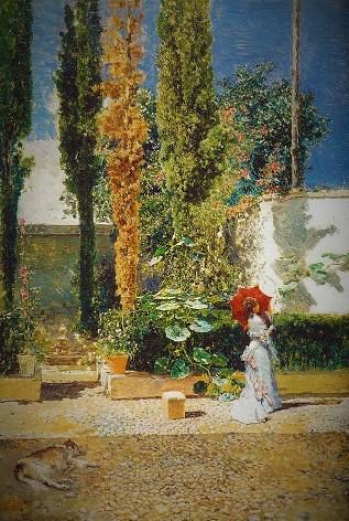 フォルトウーニ邸の庭1