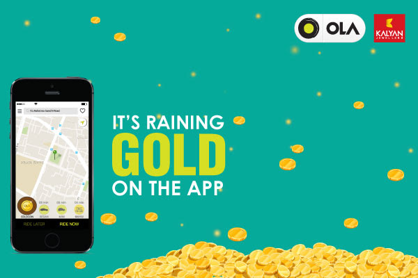 Ola Goldcoin offer coupon code - Dhantera offer