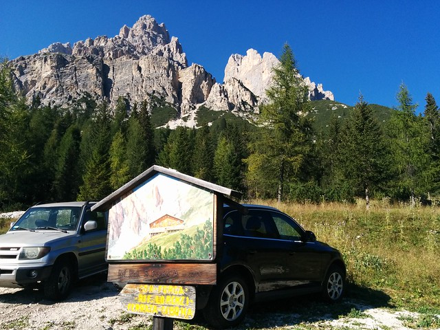 Start Parkplatz am Tre Croci Pass