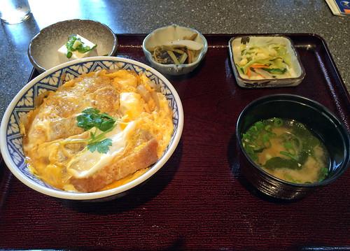 Chicken katsudon set
