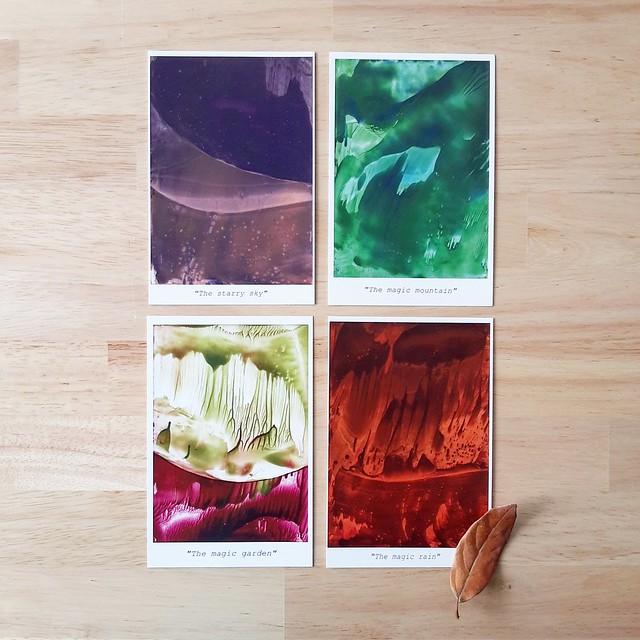 My postcards (encaustic)