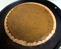 Homemade Pumpkin Pie.