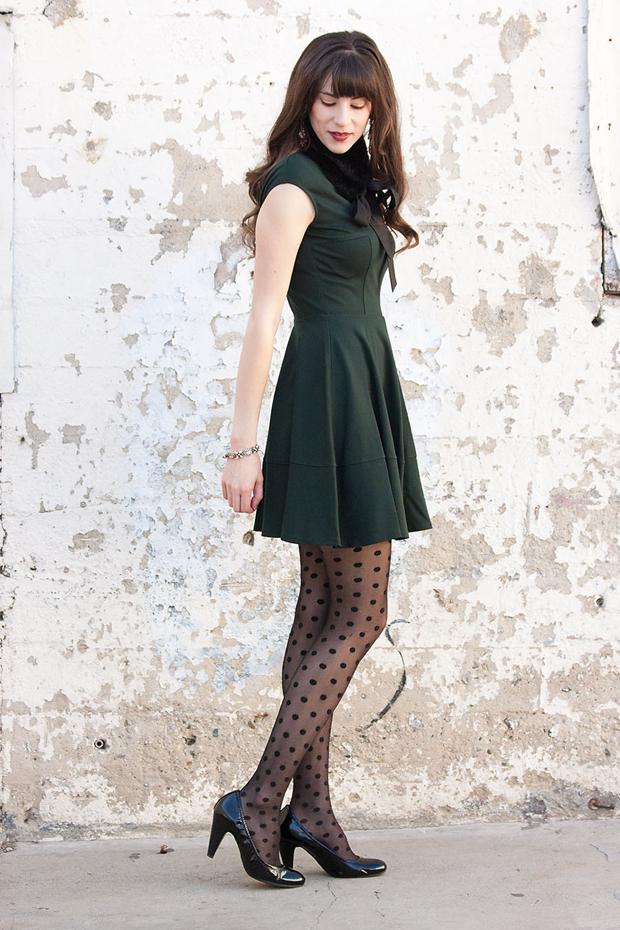 Green Dress, Holiday Style, Macy's Bar III