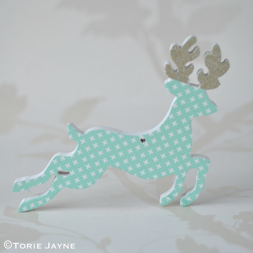 Washi tape deer ornament 5
