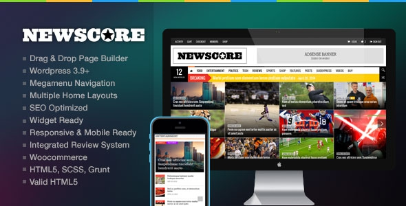 NewsCore v1.9.3 – A Blog, Magazine and News Theme for WP
