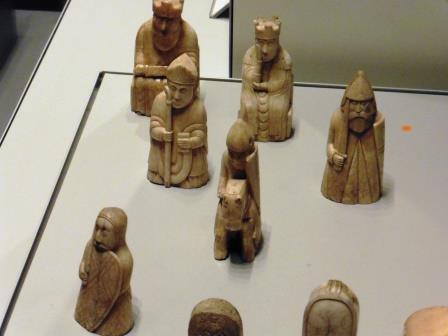 Lewis chessmen closeup