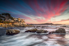 Carmel Sunset with Sea Burst House - Carmel, CA