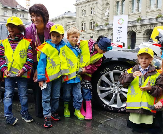 Kampagne zum Schulanfang «Rad steht. Kind geht.»