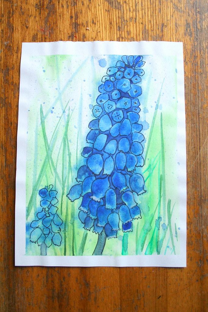 Синий цветок
