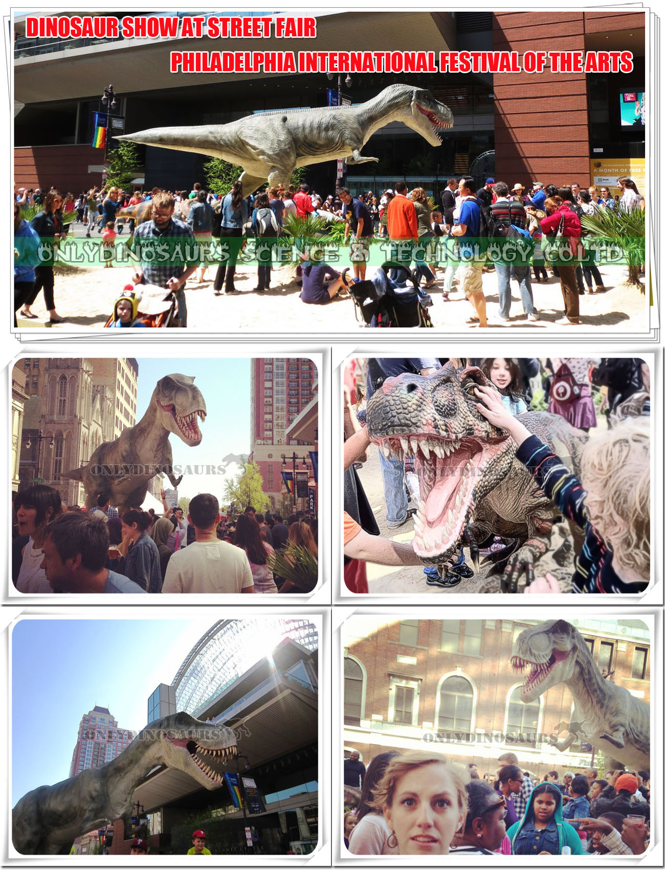 Dinosaur Show at Street Fair