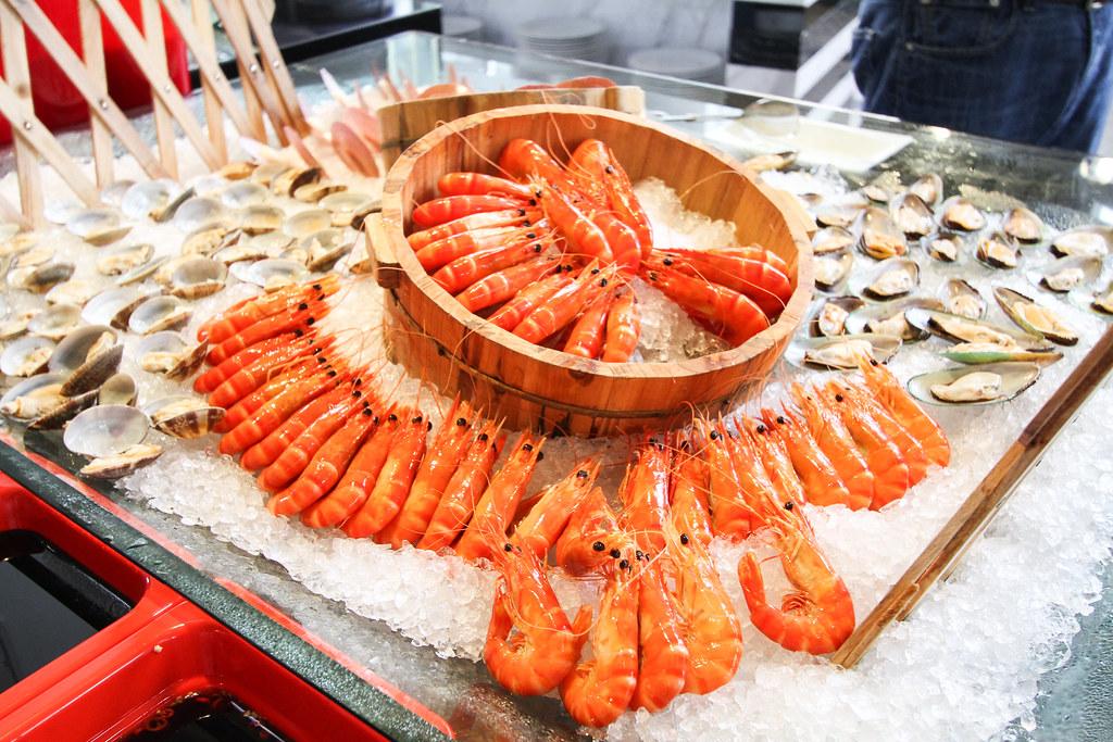Atrium Restaurant's fresh seafood
