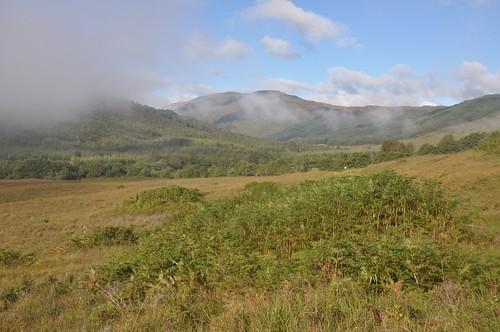 Glen Loy, mist clearing