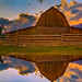 Jackson Hole Moulton Barn Reflection by Jerry T Patterson