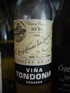 Lopez de Heredia Tondonia reserva 1996 Rioja