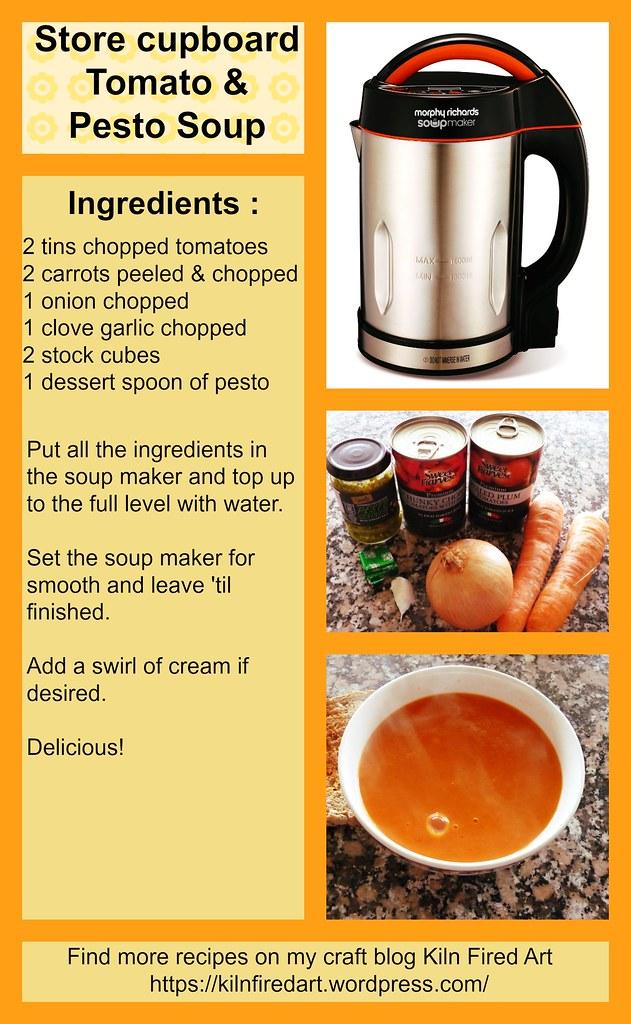 Tomato & Pesto soup recipe card