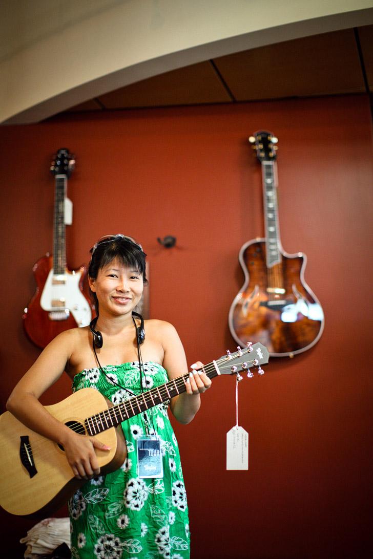 Taylor Guitar Factory Tour in El Cajon / San Diego California.