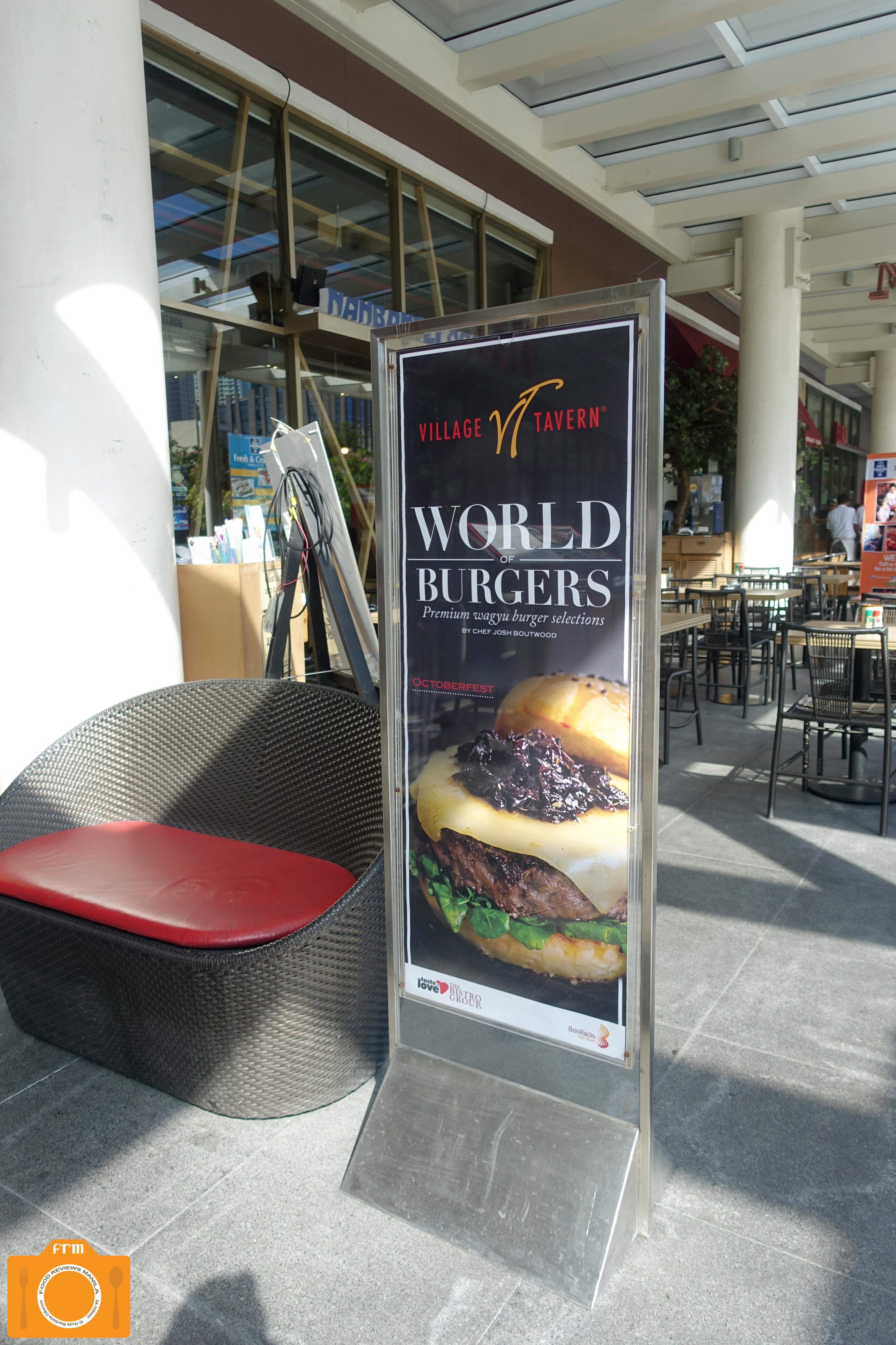 Village Tavern burger poster