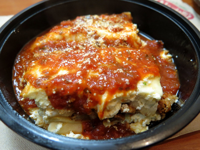 Baked meat lasagna