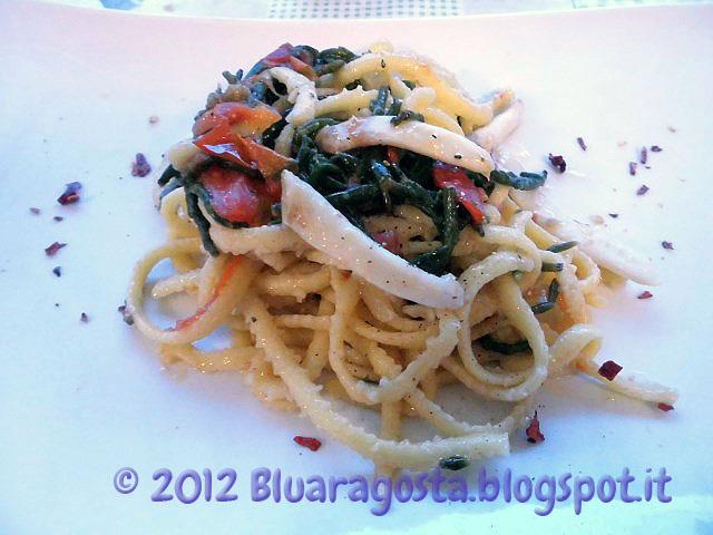 02-Taglierini con cannolicchi e salicornia