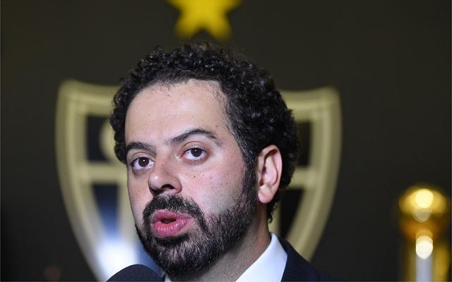 Mandat�rio do Atl�tico/MG comenta realiza��o da Primeira Liga e fala sobre Bernard e Diego Tardelli