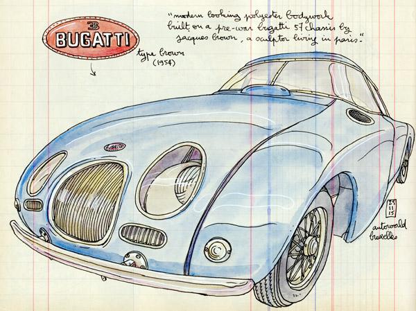 bugatti type brown