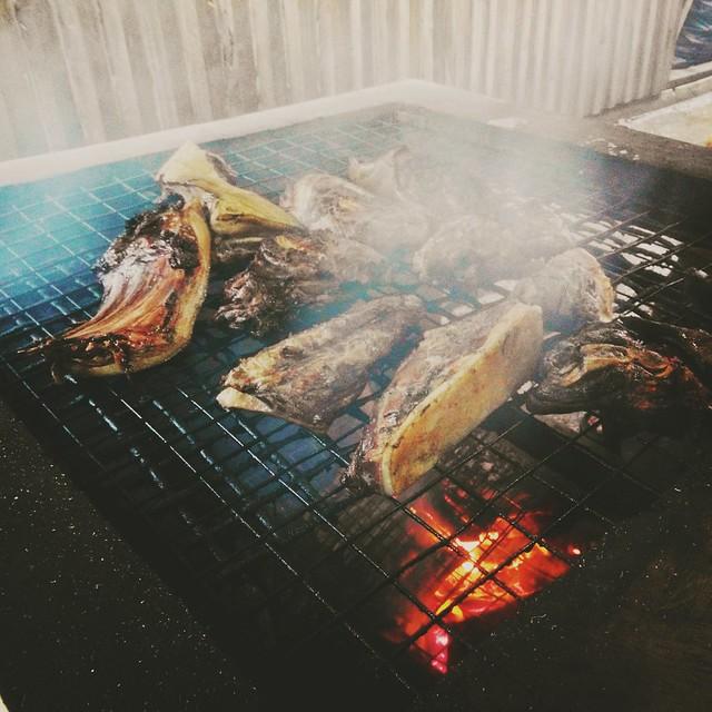 Sinalau barkas. BBQ wild boar.