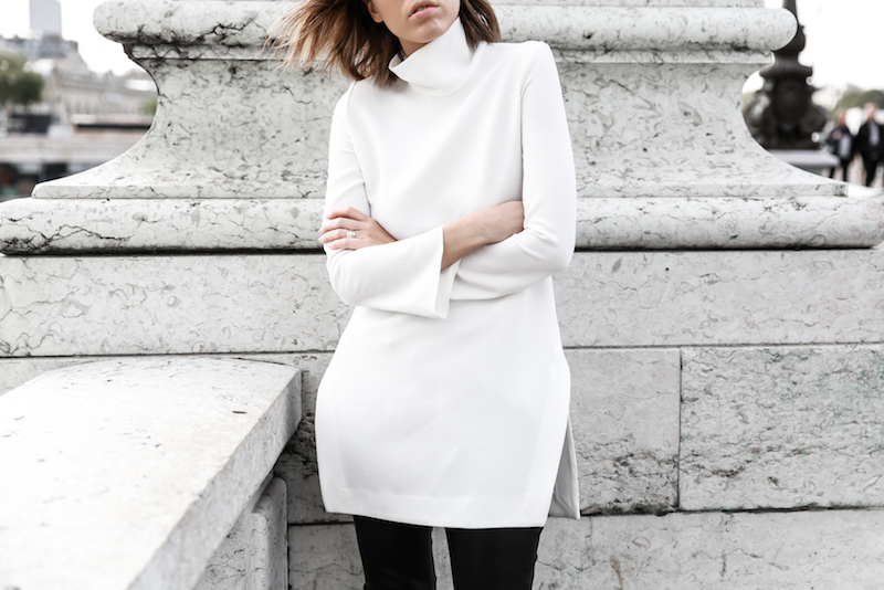 monochrome street style, outfit, inspo, Ellery, Super Creep tunic top, Bassike leather pants, Acne Jensen ankle boots, Givenchy Antigona medium, Céline ombre sunglasses, fashion blog, modern legacy (10 of 13)