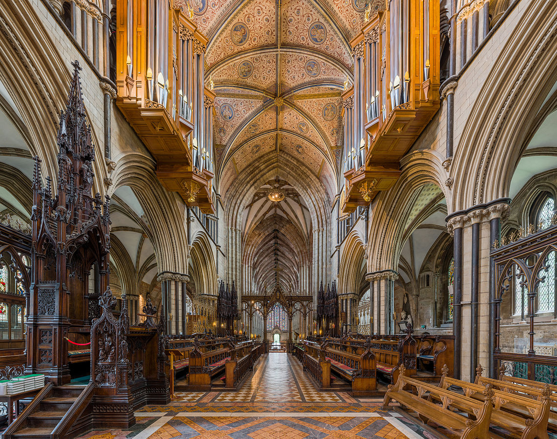 Worcester Cathedral - The choir. Credit: David Iliff