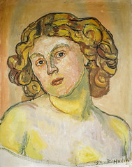 Ferdinand Folder - Portrait of Regina Morgeron, 1911 (Kunstmuseum Basel Switzerland) at Gauguin-to-Picasso Exhibit - Philllips Collection Washington DC