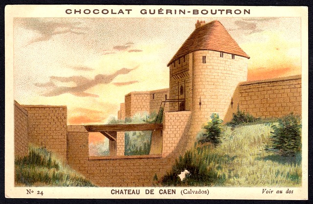 French Tradecard - Chateau de Caen