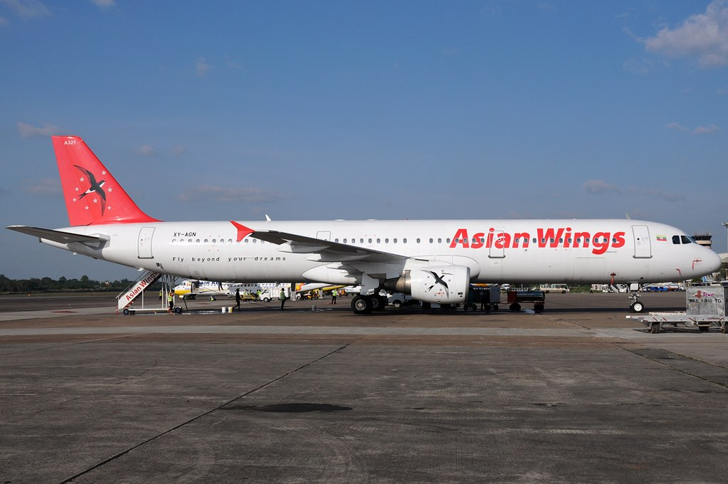 A.321-112 C.n 0765 'XY-AGN' Asian Wings Airways