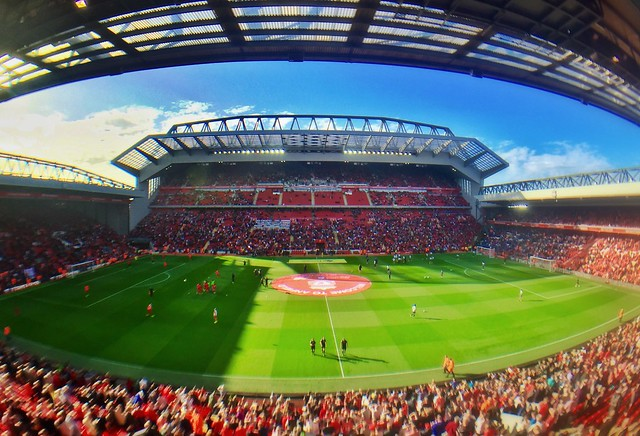 The revamped Main Stand Anfield