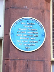 Photo of William Pearson green plaque