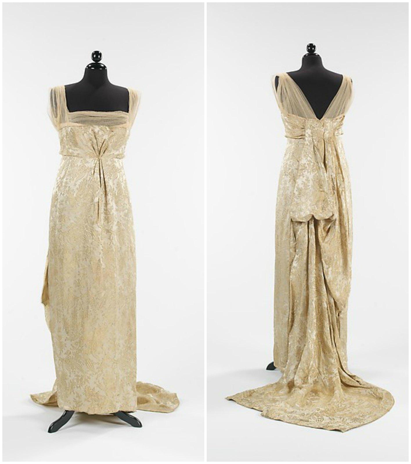 1914. Callot Soeurs. Silk, metal. metmuseum