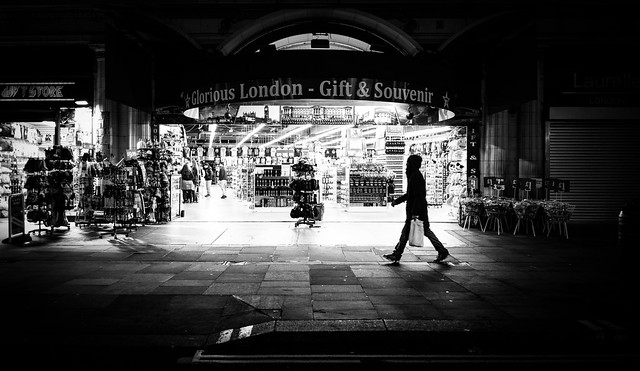 Coventry street - London, England - Black and white street photography