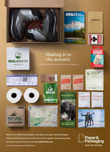 Paper & Packaging – How Life Unfolds campaign infographic