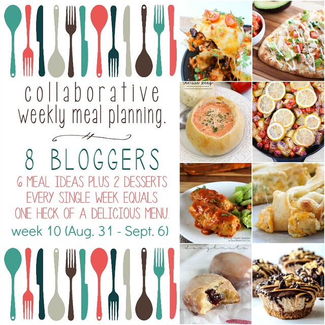 Collaborative weekly meal planning collage.