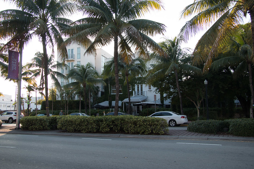 Exterior of Angler's Hotel in Miami