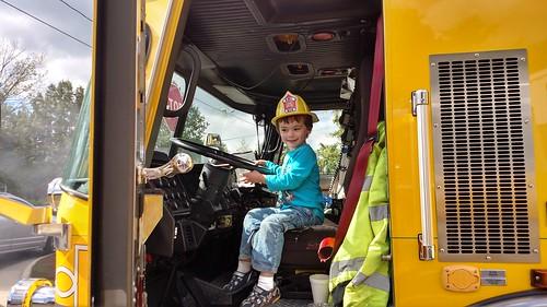 St. Paul UMC Fall Fair - Sagan Drives Firetruck