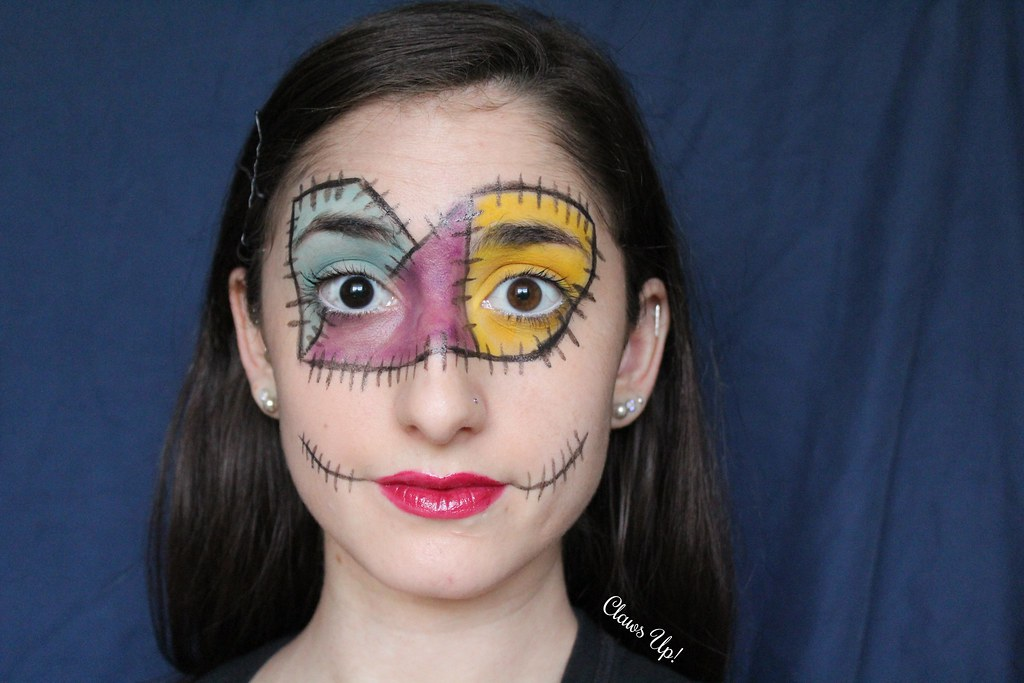 The Nightmare Before Christmas Sally makeup for halloween