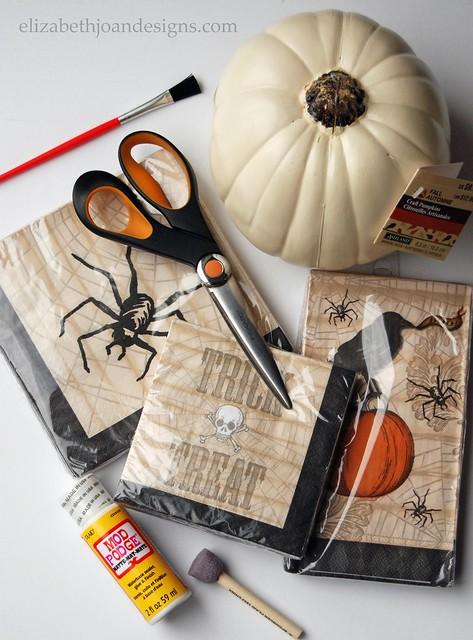 Paper Napkin Pumpkin