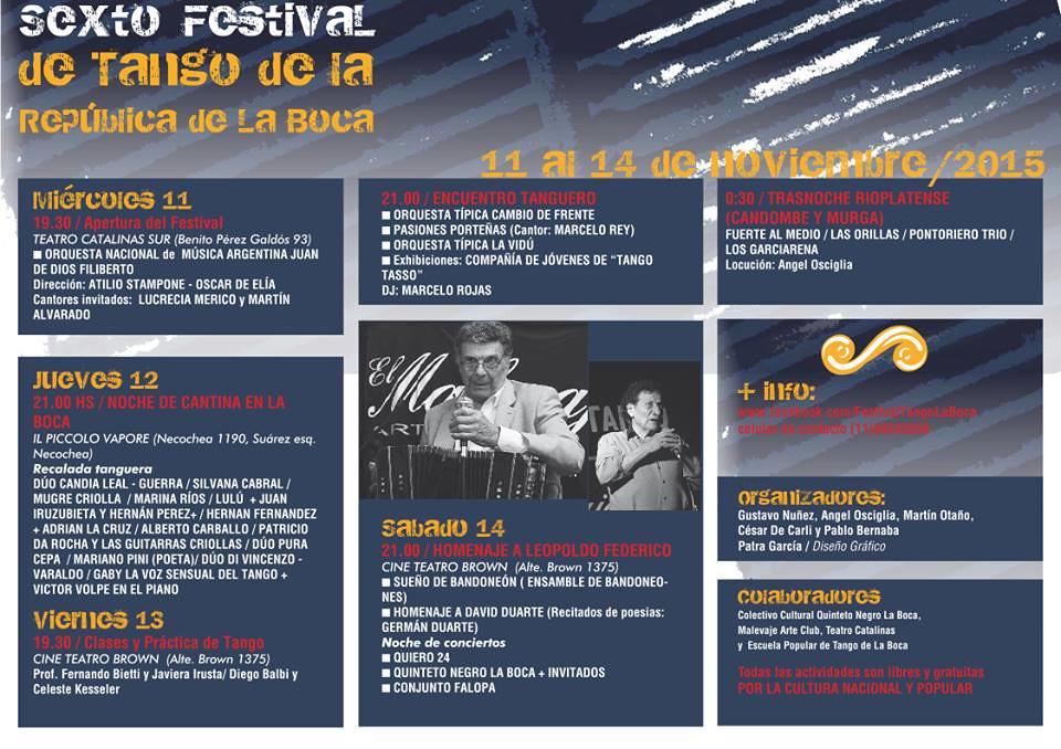 Sexto Festival de Tango de la Republica de La Boca 2015
