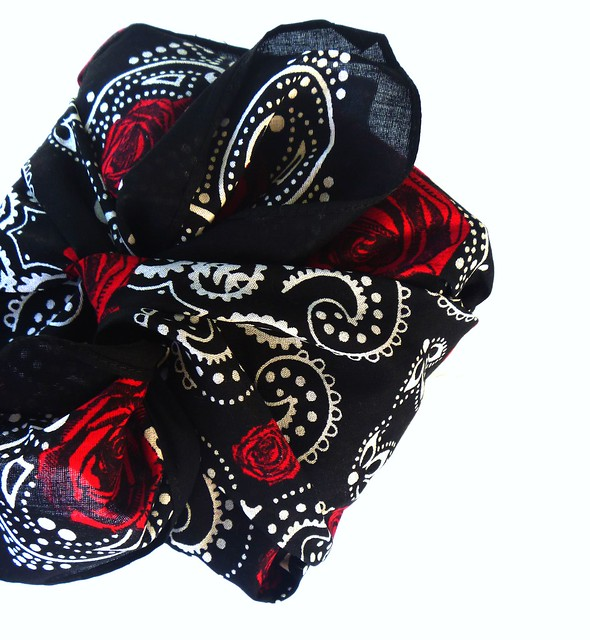 bandana scarves wrapping gifts on Gift Style Blog Gave That