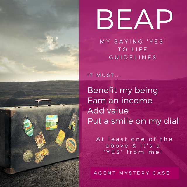 agent mystery case | Guidelines to saying 'yes'