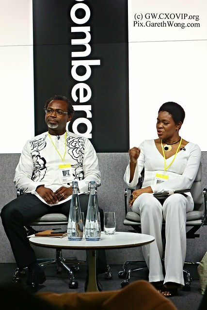 Ms Deola Ade-Ojo, award winning, talented & humble impressive & honour to have met her, and Kelechi Amadi-Obi at Africa Luxury Summit Bloomberg LP London from RAW _DSC4913 @kelechiamadiobi @deola_by_deolasagoe
