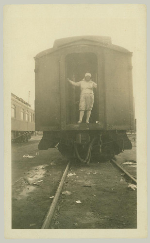 Woman on Railcar