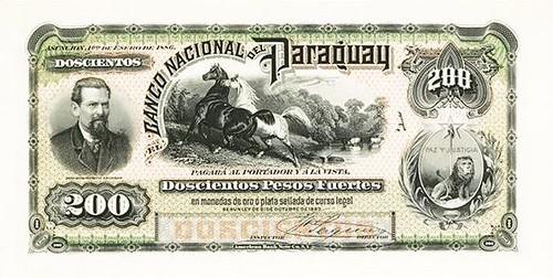 Banco Nacional Del Paraguay, 1886